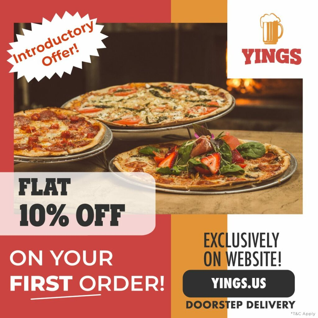 10% Discount on First Order Yings